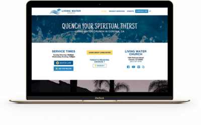New Website For Living Water Church