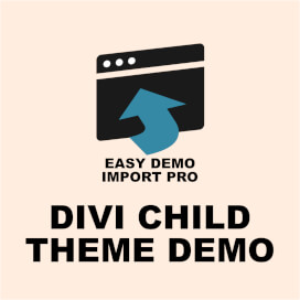 Easy Demo Import – Child Theme Demo For Divi